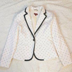 2/$40 (10) Blazer Polka dot Jacket cream polkadots